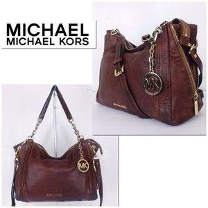 MICHAEL Michael Kors Distressed Brown Leather Bag